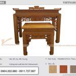 Mẫu bàn thờ đứng đẹp đẳng cấp với nhiều kích thước, màu sắc đa dạng theo yêu cầu