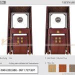Mẫu bàn thờ đứng gỗ mít màu óc chó nâu kích thước 108x61x127cm – BTD36