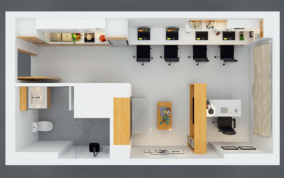 Thiết kế căn hộ officetel đẹp