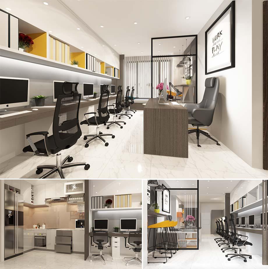 Thiết kế văn phòng officetel đẹp