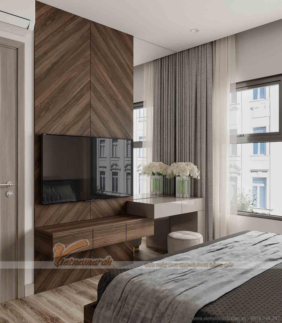 Thiết kế nội thất phòng ngủ chung cư 3 ngủ Tháp thiên niên kỷ