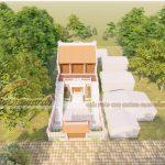 Thi công nhà thờ họ bê tông giả gỗ 2 tầng khang trang tại Lục Ngạn Bắc Giang -Hoàn thành tháng 1.2021