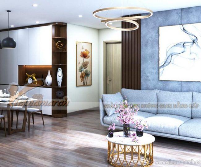 Mẫu thiết kế nội thất căn hộ 2 ngủ Tháp Thiên niên kỷ Hà Đông