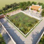Phối cảnh thiết kế nhà thờ họ sơn giả gỗ đẳng cấp tại  Dak Lak