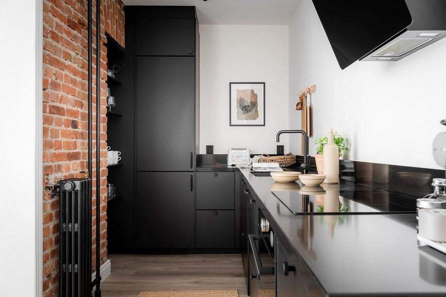 Đồ trang trí bằng gỗ tạo nên nét đẹp sang trọng tối giản cho bếp nhà