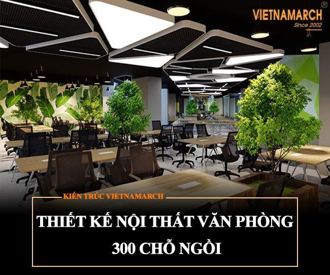 Thiết kế nội thất văn phòng 300 chỗ ngồi tại tòa nhà Kim Khí Thăng Long