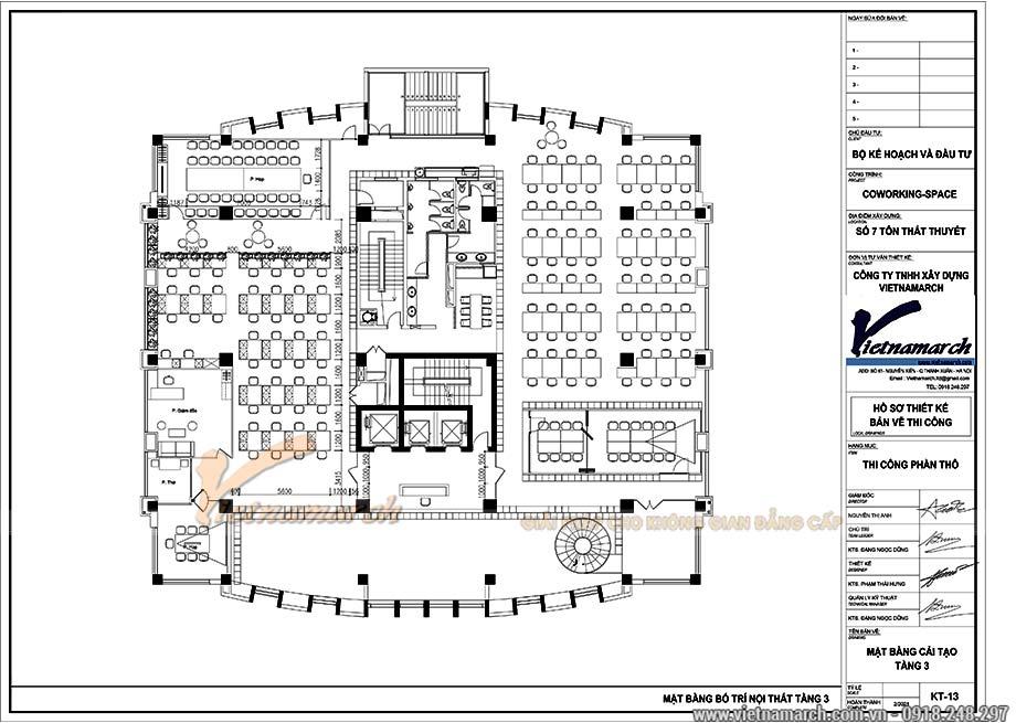 Bản vẽ mặt bằng văn phòng 650m2