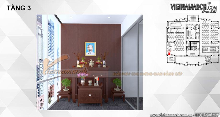 Thi công, lắp đặt nội thất phòng thờ đẹp gỗ sồi cho công ty 4
