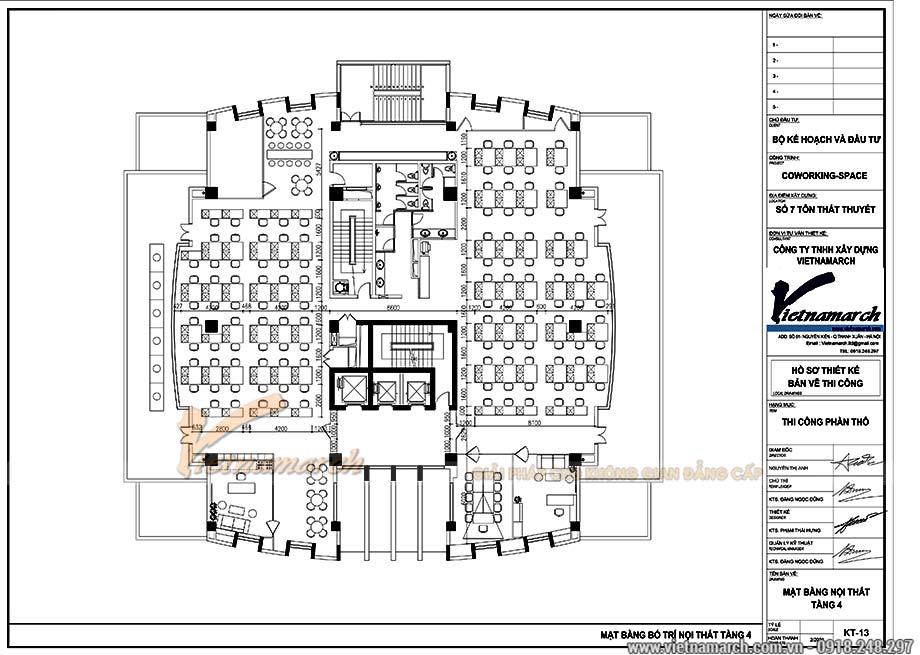 Bản vẽ thiết kế mặt bằng văn phòng 700m2