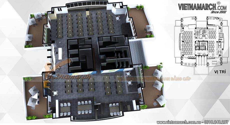 Thiết kế nội thất văn phòng 800m2
