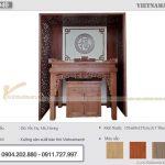 Feedback mẫu bàn thờ đứng BTD40 hiện đại kèm vách trang trí cho phòng thờ căn hộ chung cư 135m2 tại Golden Park