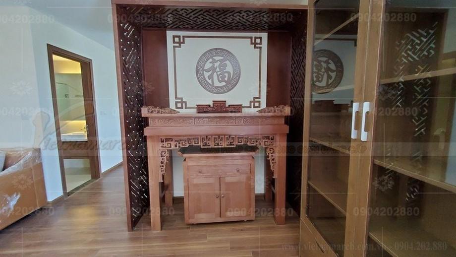 Phòng thờ chung cư gia đình với mẫu bàn thờ BTD 040