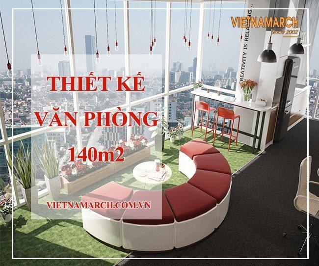 Thiết kế văn phòng 140m2 tại 81A Trần Quốc Toản