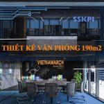 Dự án thiết kế văn phòng 190m2 tại 138 Trần Bình – SSKPI Office