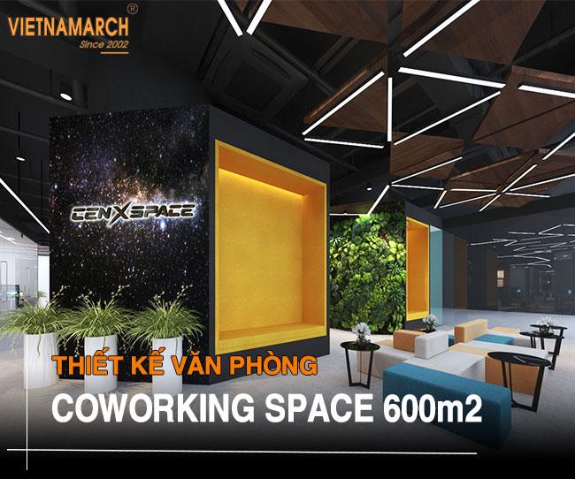 thiết kế văn phòng coworking space 600m2 tại tòa nhà Dolphin Plaza