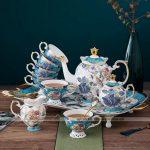 Bộ ấm chén uống trà nhập khẩu cao cấp phong cách Quý tộc