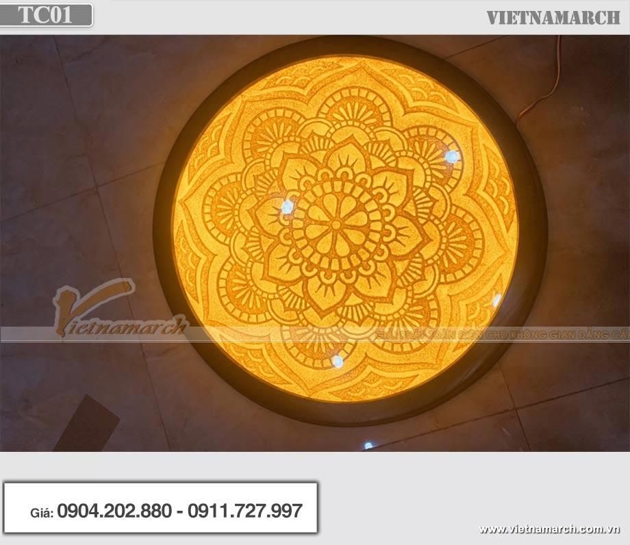 Mẫu đèn ốp trần trúc chỉ Mandala