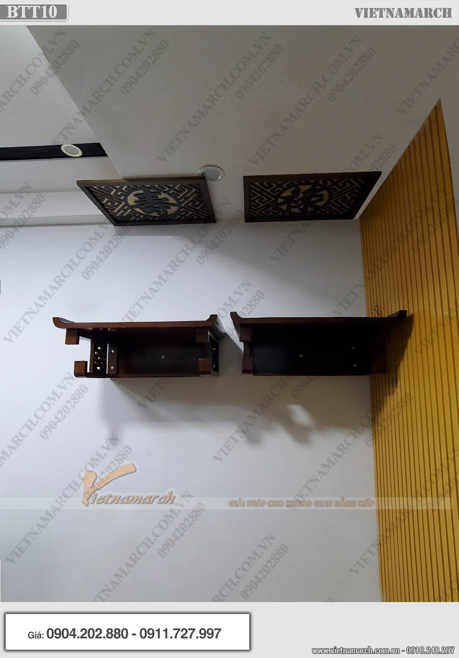 Cách lắp đặt bàn thờ bên nội bên ngoại bằng bàn thờ treo chuẩn phong thủy