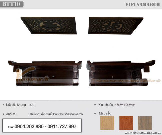 Hình ảnh lắp đặt thực tế bàn thờ bên nội bên ngoại tại chung cư An Bình City - BTT10