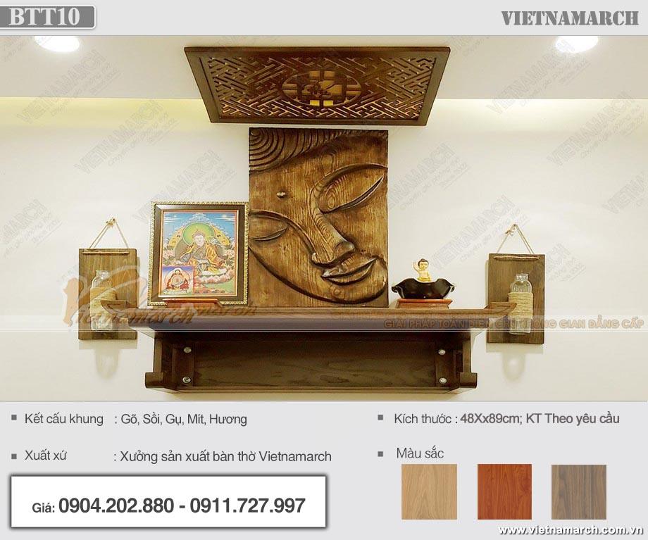 mẫu bàn thờ Phật BTT 10 lắp đặt tại gia đình chị Hoa- Hai Bà Trưng