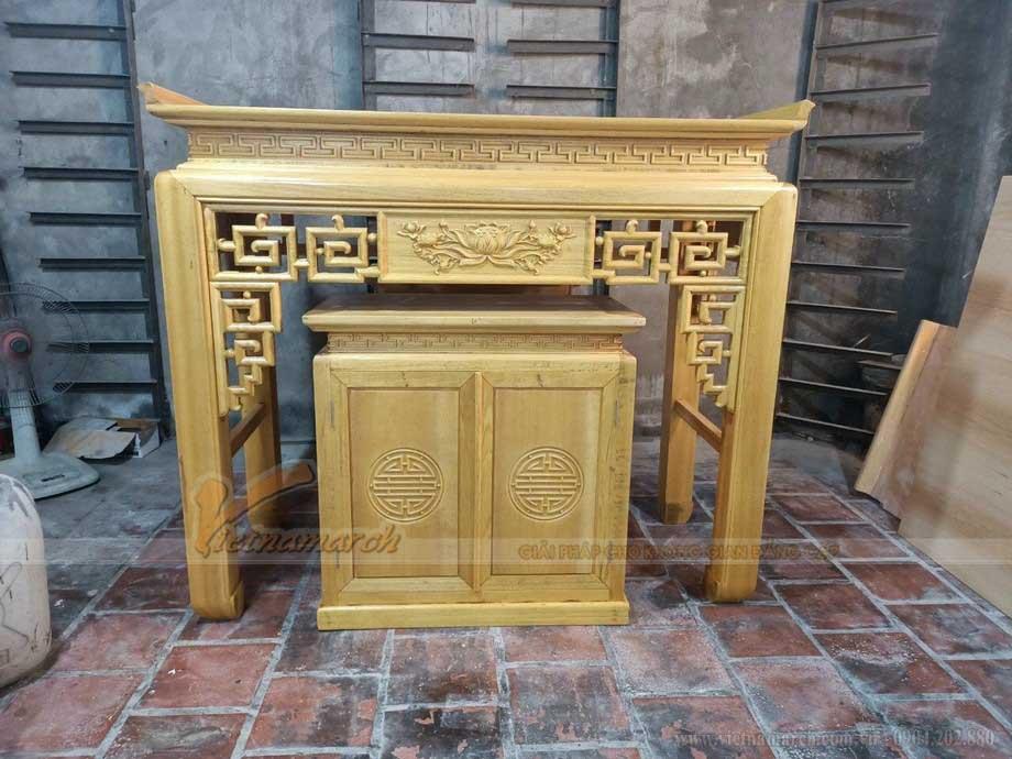 Chất liệu gỗ làm bàn thờ đa dạng