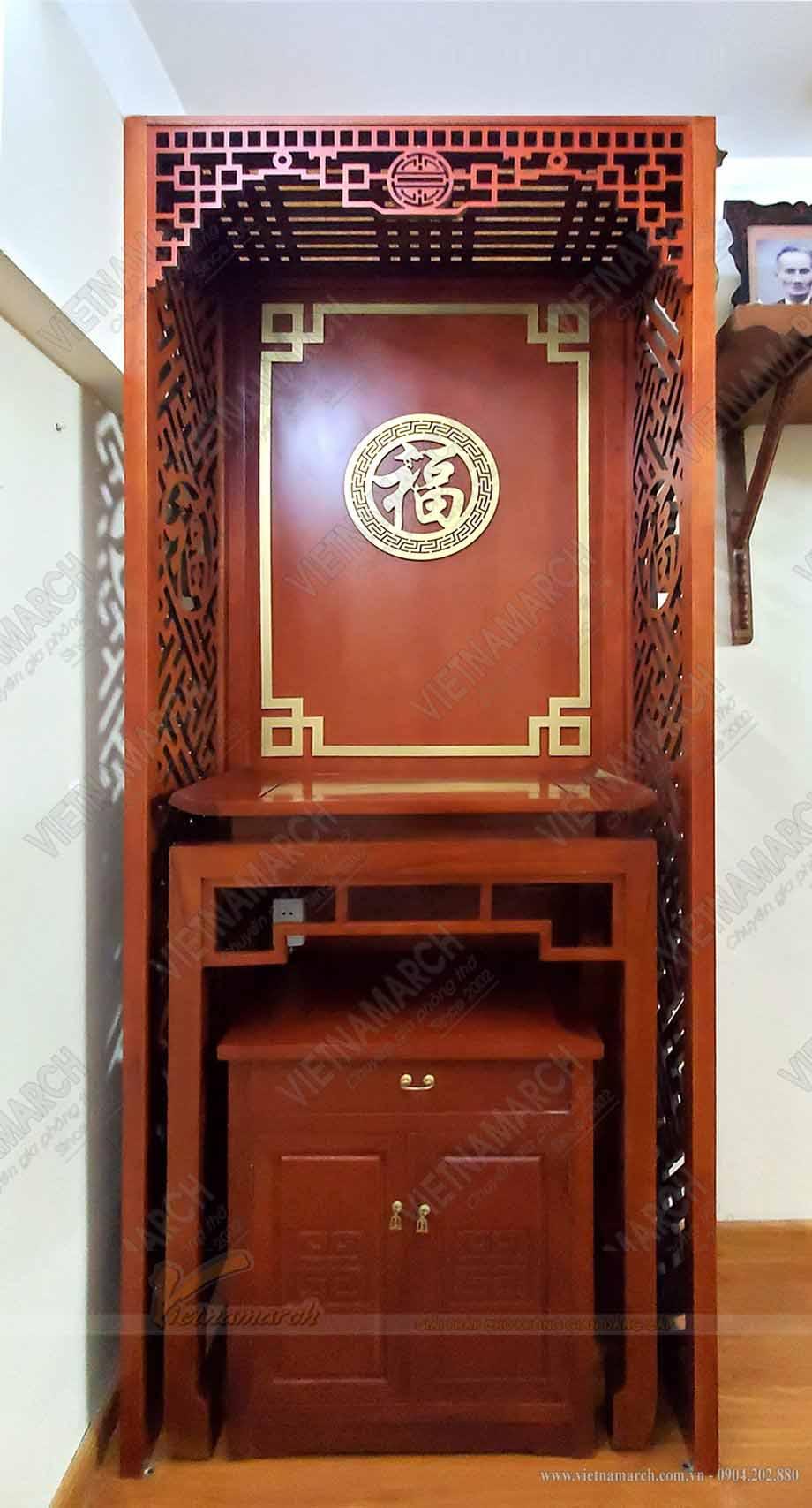 Mẫu BTD05 kt 88x48x127 gỗ Gõ kèm vách - Anh Dũng - Văn Quán