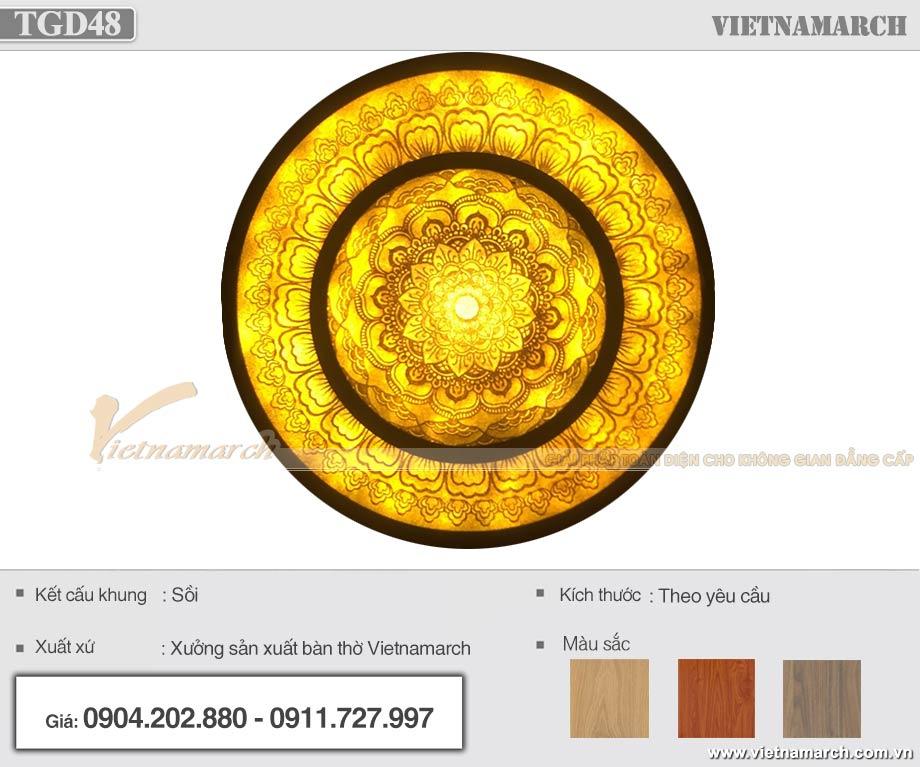 Mẫu đèn trần giấy dừa Mandala