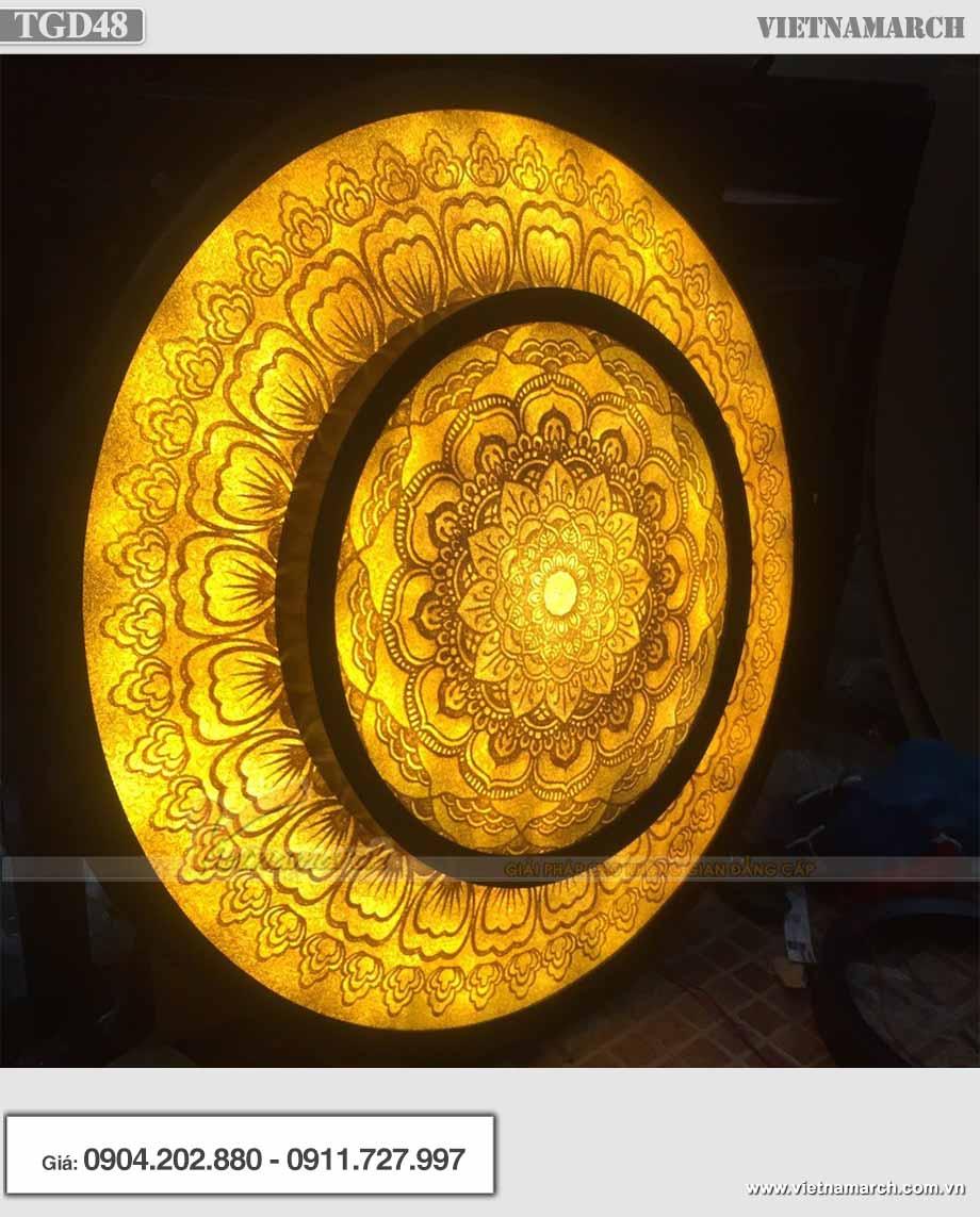 Mẫu đèn ốp trần giấy dừa Mandala TGD48