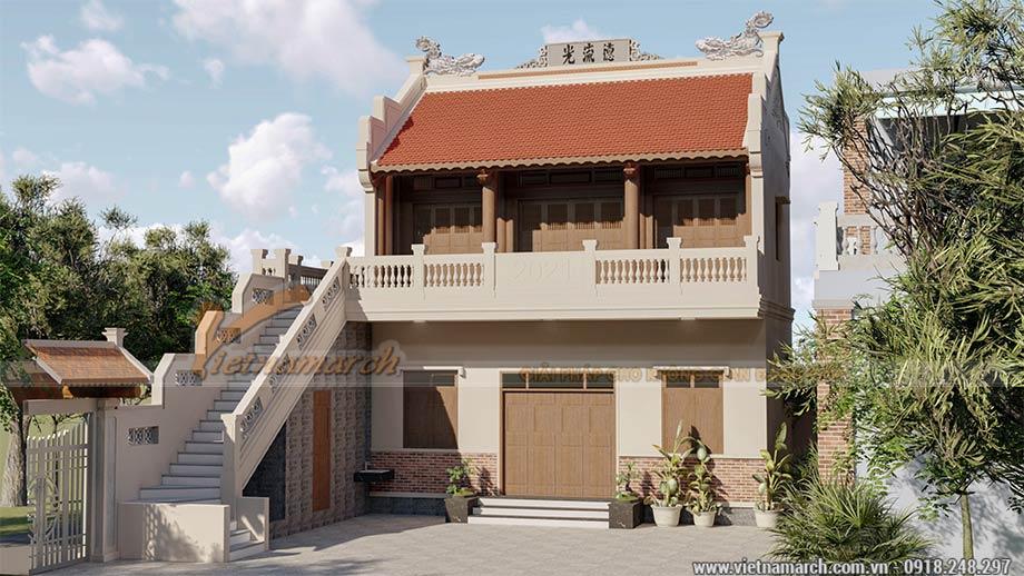 Mẫu nhà thờ họ 3 gian 2 tầng 55m2 tại Quảng Ngãi