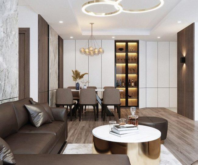 Thiết kế nội thất phòng ăn tại chung cư Phương Đông Green Park