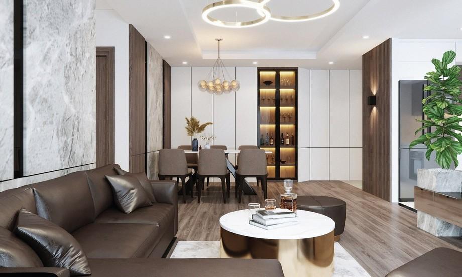 Thiết kế nội thất phòng bếp tại chung cư Phương Đông Green Park