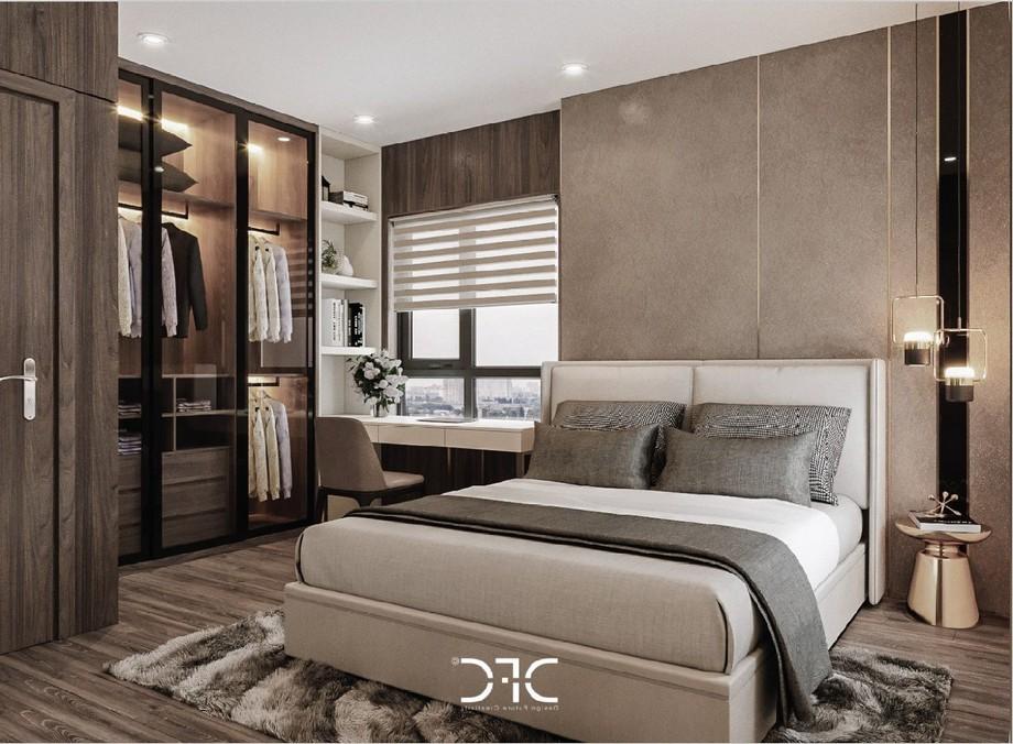 Thiết kế nội thất phòng ngủ master tại chung cư Phương Đông Green Park