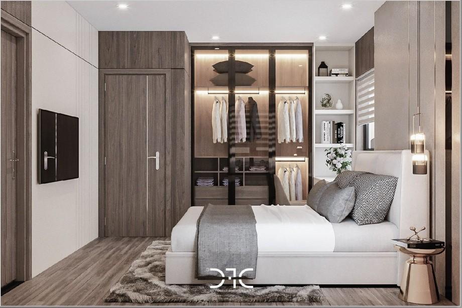 Thiết kế nội thất phòng ngủ phụ tại chung cư Phương Đông Green Park