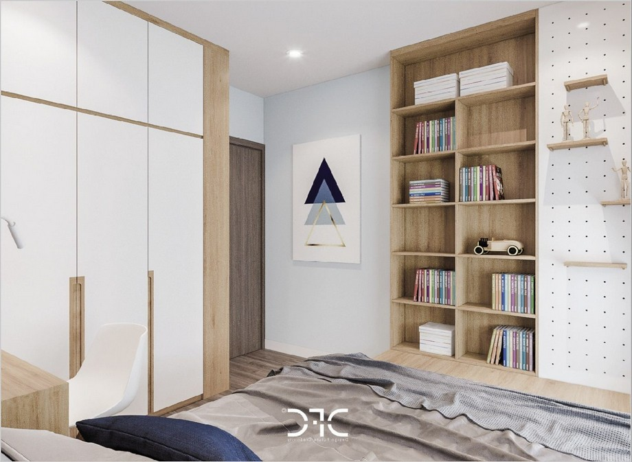 Thiết kế nội thất phòng ngủ tại chung cư Phương Đông Green Park