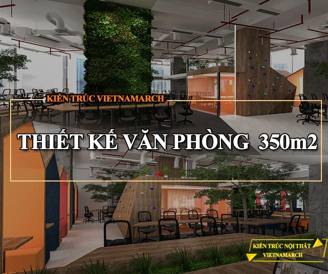 Mẫu thiết kế văn phòng 350m2 tại số 21 Lê Văn Lương