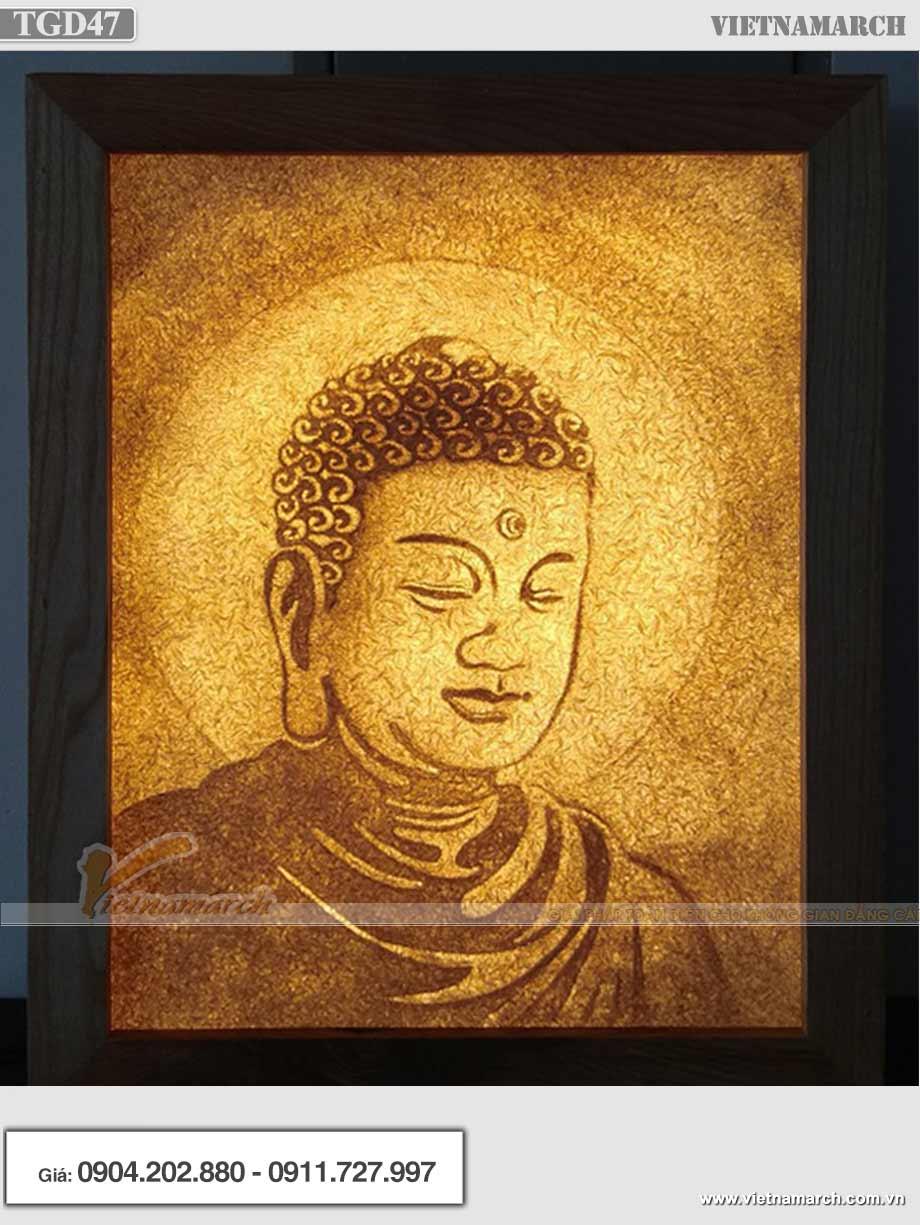 Mẫu tranh giấy dừa Phật