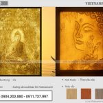 Các mẫu tranh giấy dừa Phật đẹp trang nghiêm!