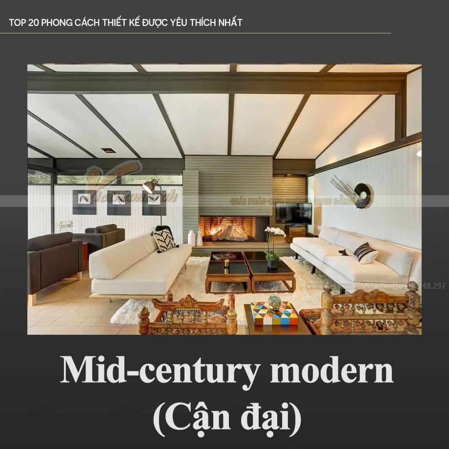 Phong cách Cận đại – Mid-century modern