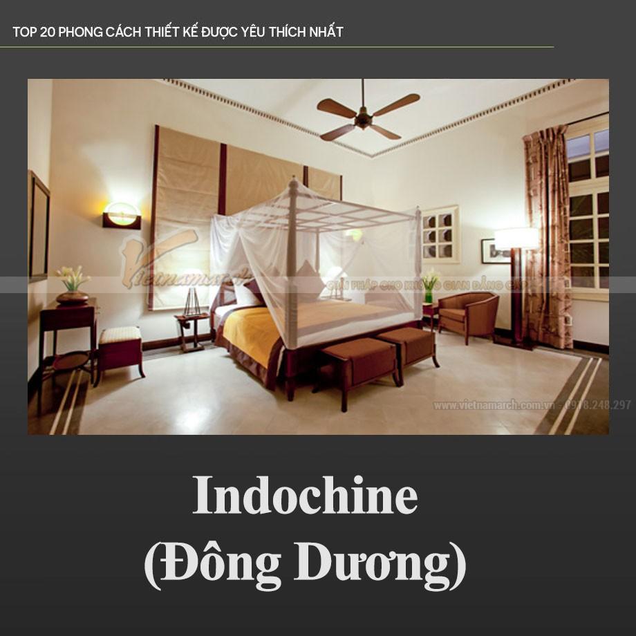 Phong cách nội thất Đông Dương - Indochine