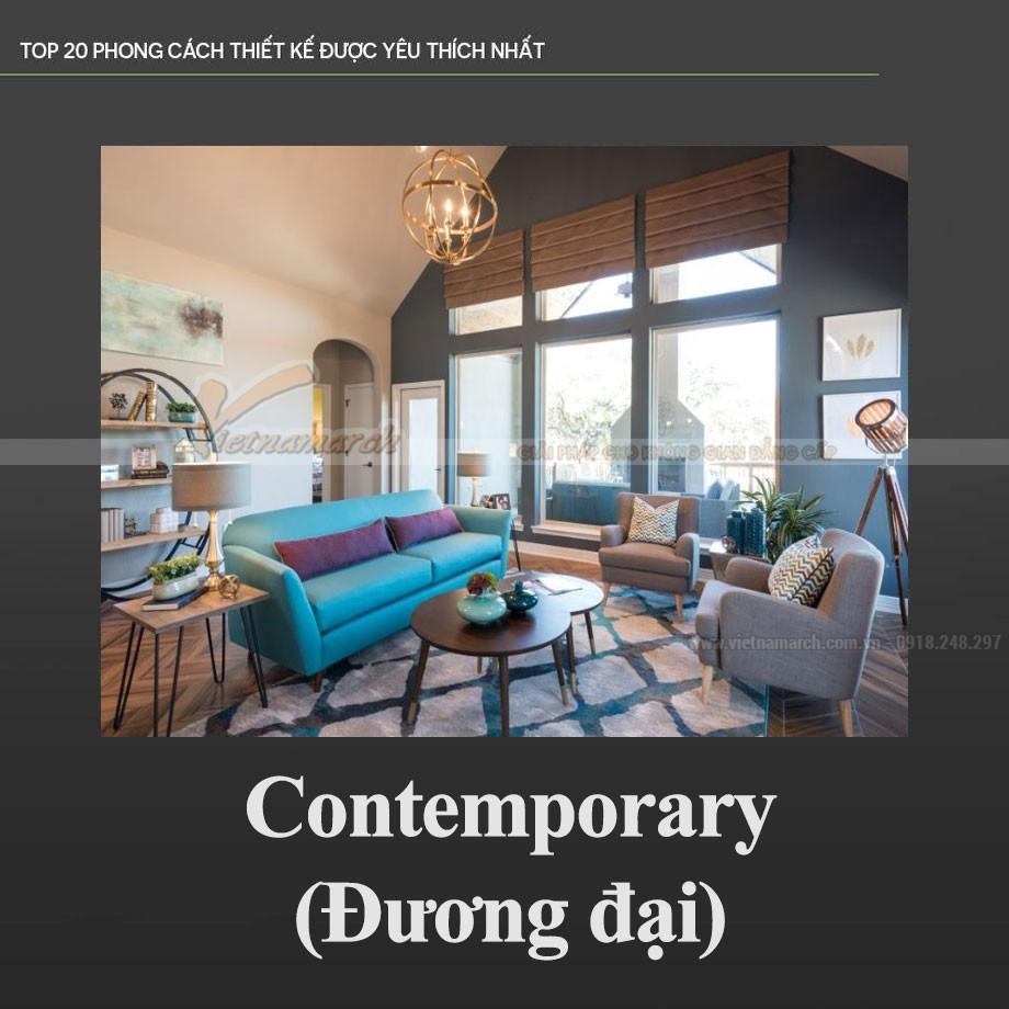 Phong cách thiết kế nội thất đương đại – Contemporary