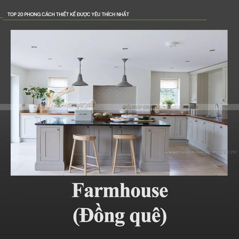 Phong cách thiết kế nội thất đồng quê – Farmhouse