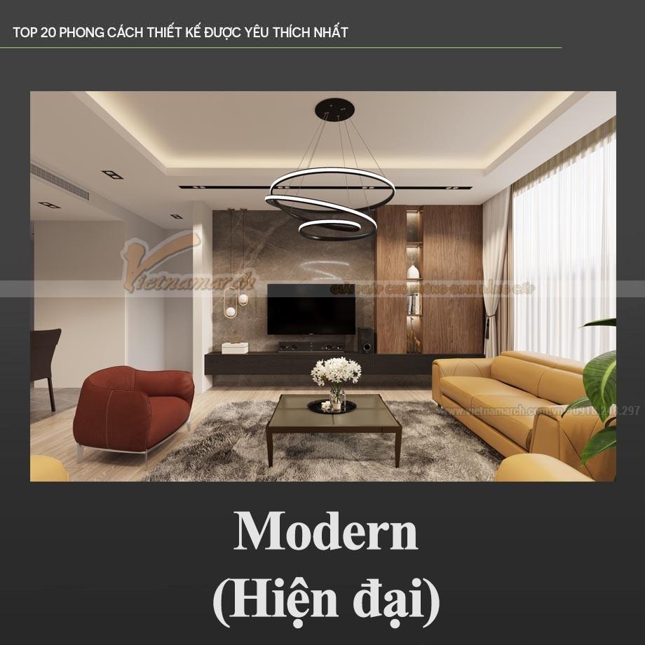 Thiết kế nội thất theo phong cách hiện đại – Modern