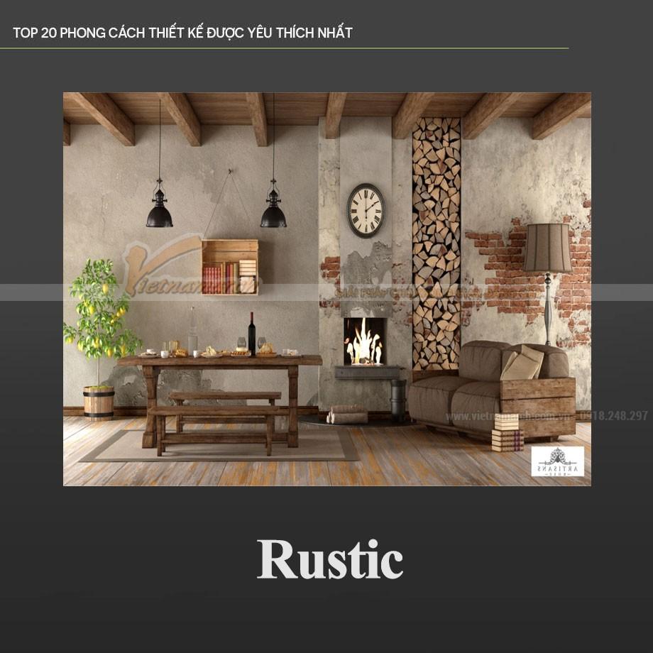 Phong cách Rustic