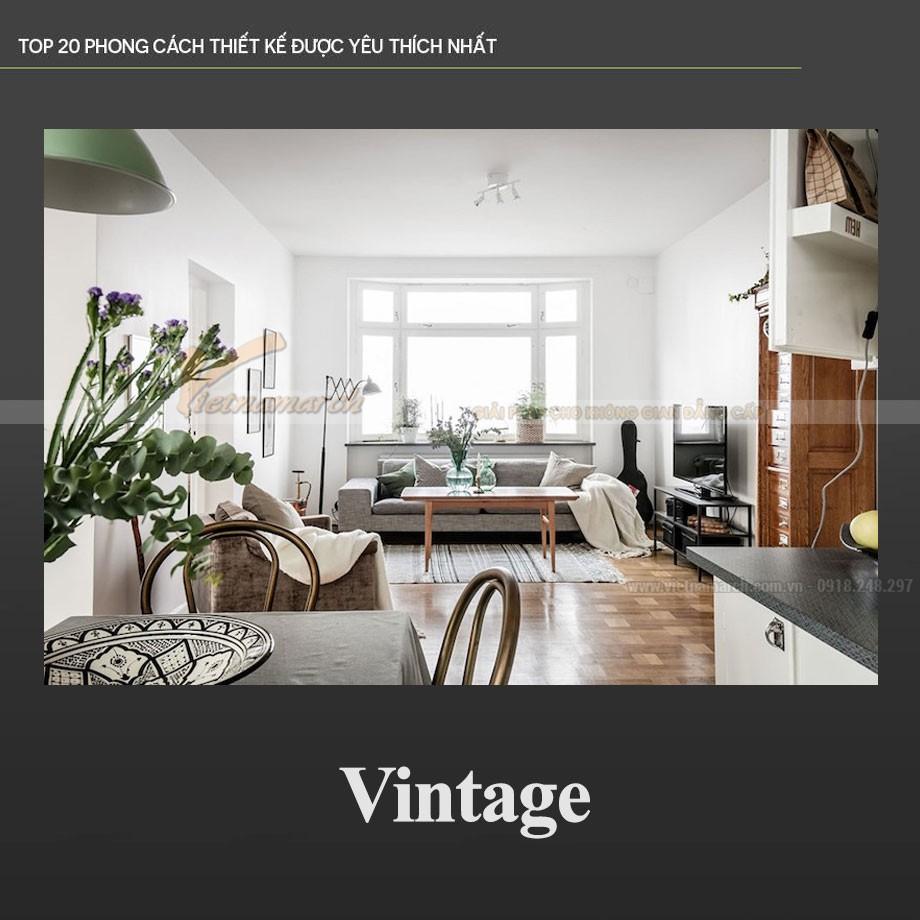 Phong cách thiết kế nội thất Vintage