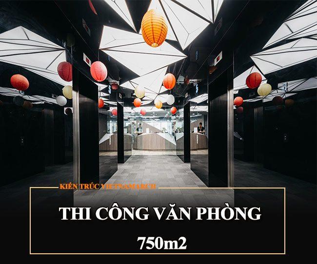 Thi công văn phòng 750m2 tại Kim Mã