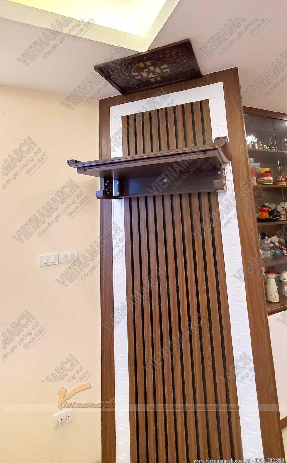 Mẫu bàn thờ treo đẹp BTT16- Lựa chọn hàng đầu của các công ty thiết kế nội thất chung cư