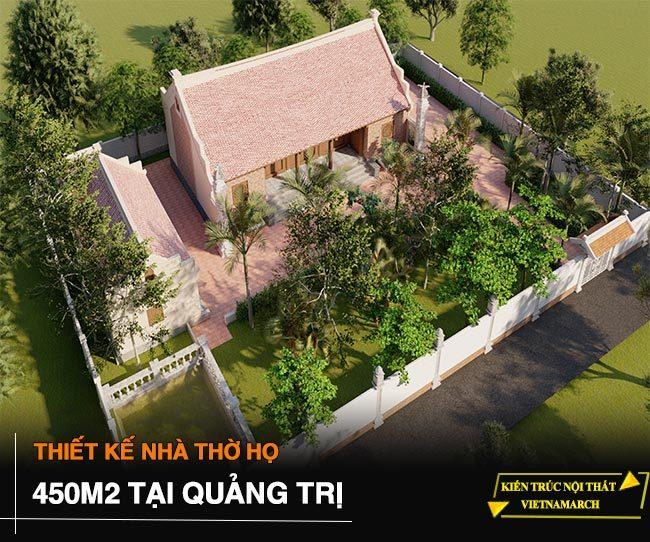 Bản vẽ thiết kế nhà thờ họ 5 gian tại Quảng Trị trên diện tích 450m2