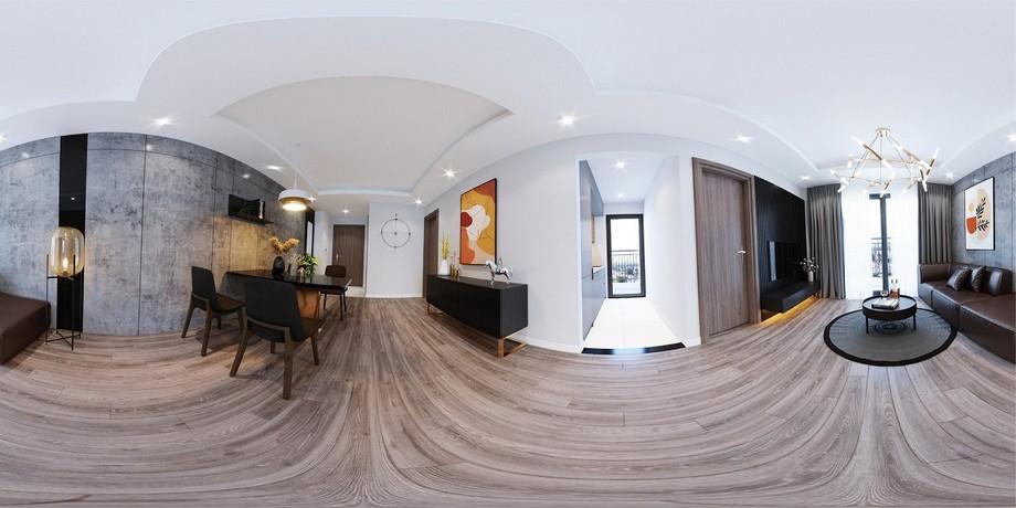 Mẫu thiết kế nội thất chung cư 2 phòng ngủ Phương Đông Green Park