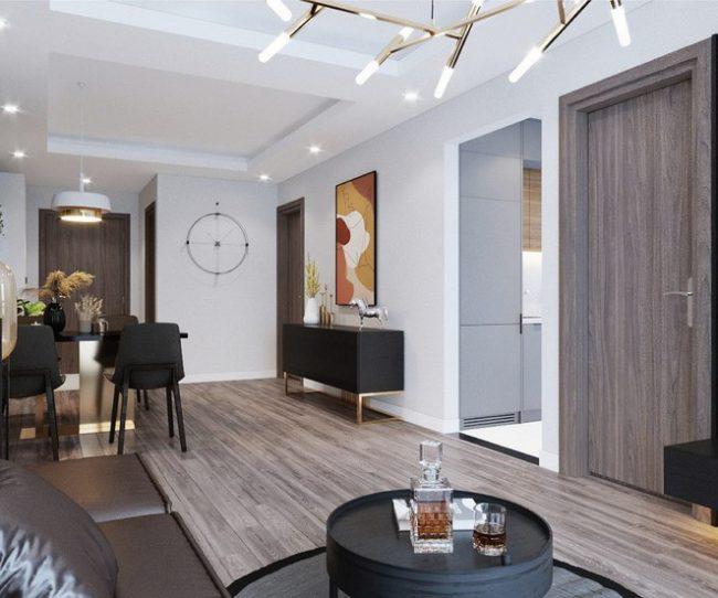Nội thất phòng khách căn hộ 2 phòng ngủ Phương Đông Green Park