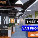 Dự án thiết kế văn phòng 380m2 tại 28 Trần Bình – GNG Media